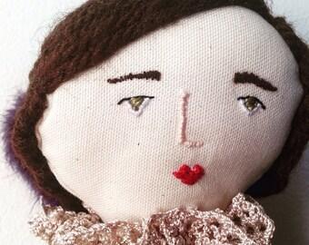 Rag doll / Ooak doll / Art doll / Primitive rag doll / Handmade fabric doll /Linen doll / Handmade doll