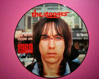 The Stooges * 1988 Vintage Vinyl LP * Raw Mixes Vol One (1969) *  Ltd Ed 1000 Picture Disc * Bootleg Album * Iggy & The Stooges * Iggy Pop