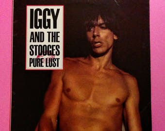 Iggy & The Stooges * Pure Lust * Yellow Vinyl 4 Song EP * 1988 Limited Edition of 3000 Pressed * France Import * Iggy Pop *  Vintage Vinyl *