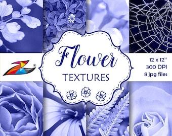 Sale Flower Digital Paper commercial use photo background floral textures digital paper purple flower Shabby Instant Download