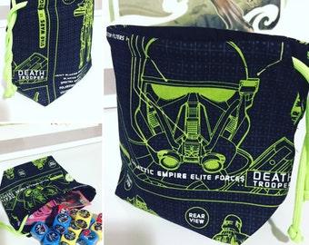 Star Wars Rogue One Death Trooper Drawstring Dice Bag