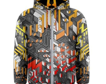 Zip-up hoodie - Interdimensional (Fire)