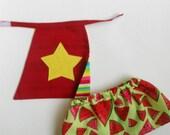 Superhero cape and skirt for La Loba dolls