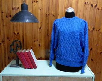 Womens Sweater. Sweaters. Vintage Sweater. Blue. Retro.Sweater. Winter. Women Clothing. Brown Knitted Sweater For Women 1950s