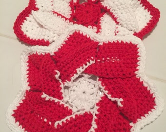 Crochet flower hot sets