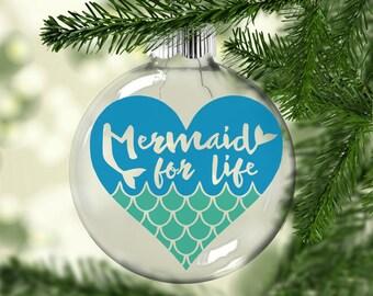 Mermaid Ornament | Mermaid for Life Ornament | Mermaid Christmas Ornament | Mermaid heart Ornament | Christmas Ornament | Mermaid Gift |