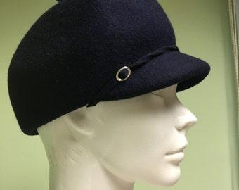 Vintage blue wool hats