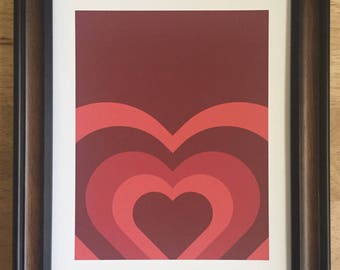 Hearts, Print, Love, Red