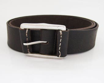 Next Mens Vintage Look Leather Belt Brown