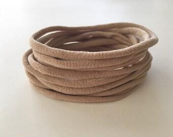 Tan Nude Nylon Headband / Nude Nylon Headband / Bulk Nylon Headband / One Size Headband Wholesale Baby Headband
