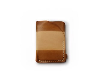 Trifold leather wallet in almost brown