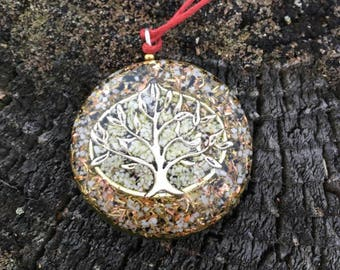 FREE SHIPPING -ORGONE Pendant  - Tree with Magnesite