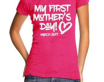 My First Mother's Day T Shirt Top Gift Love First Child ME5