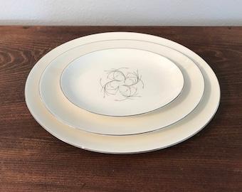 "Homer Laughlin ""Rhythm"" Serving Platters - set of 3"
