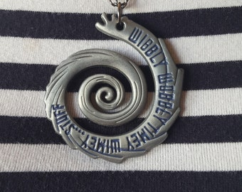 Doctor Who wibbly wobbly timey wimey stuff vortex pendant necklace