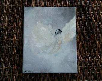 8 x 10- Bird Painting- Acrylic Painting- Home and Wall Decor- Nature Inspired- Animal Art- Nursery Decor- Decor- Paintings- Bird Art- Canvas