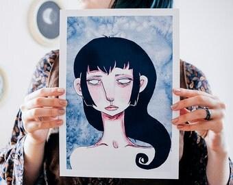 Swirl art print A4