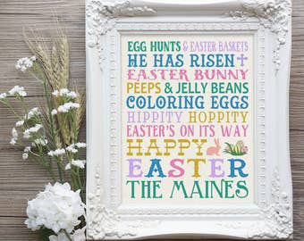 Easter gift mom etsy easter subway print easter farmhouse decor easter housewarming gift easter bridal shower gift negle Choice Image