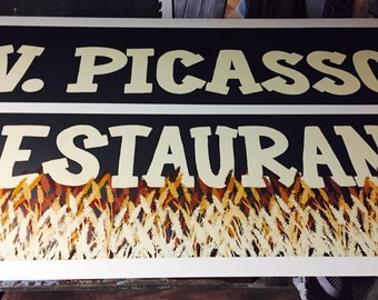 Custom painted sign