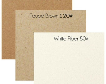 Recycled Fiber Cardstock - Pack of 25 sheets