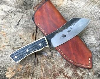 Nessmuk-Belt knife-knife-skinner- bushcraft knife-butcher knife-game knife-camp knife-hunting knife-hunting-nessmuk belt knife-custom knife