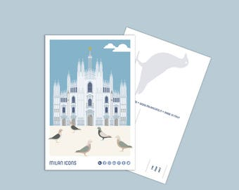 Milan Icons Postcard > DUOMO