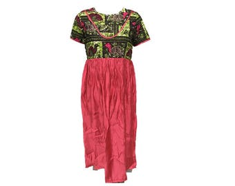 African inspired girl's dress (coton/wax dress size 10)