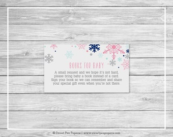 Winter Baby Shower Book Instead of Card Insert - Printable Baby Shower Books for Baby - Baby It's Cold Outside - Books for Baby - SP141