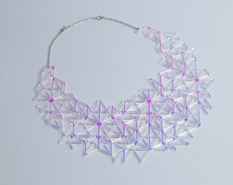 Iridescent Bib Necklace