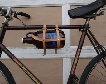 Growler Bike Carrier - The Growler Peddler by Black Spruce Leather - Beer and Bike