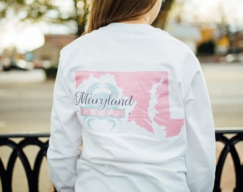 Maryland Prepp State T-Shirt || Maryland T-Shirt || Maryland Prepp