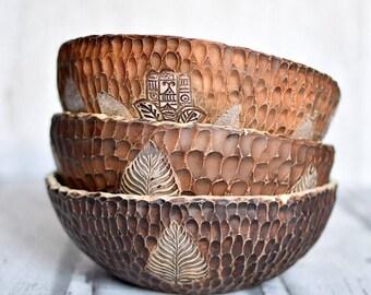 Ceramic handmade space bowls