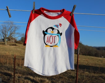 Girls Monogram Penguin Shirt