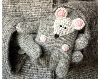 Mouse Knitted Gloves Hand Knitting Gloves Mouse  Gloves Wool Gloves   Gloves And Mittens