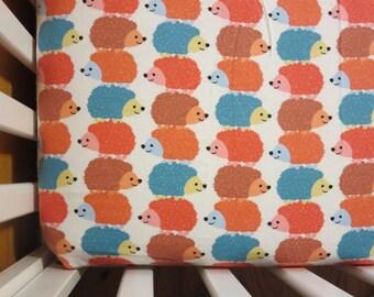 Hedgehogs-Baby/ Toddler Crib Sheet-Fitted Crib Sheet-Sheets- Bedding-Nursery-