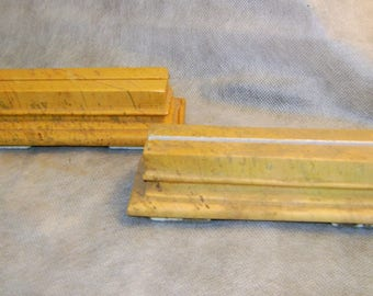 two yellow marble sculptures of Numidia for photos or papers