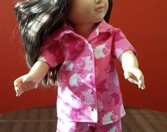 18 inch American girl 3 piece pajama  set