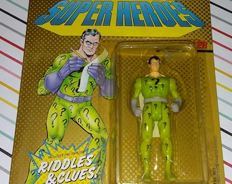1989 Toy Biz DC Comics Super Heroes The Riddler Carded Figure
