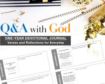 Q&A with God Digital Printable Download Journal Devotional Prayer Bible Study