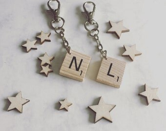 Scrabble keyring, letter keyring