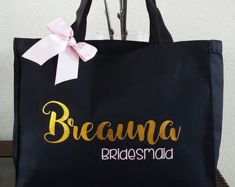 Personalized Tote Bag, Bridesmaid Gift,Destination Wedding, Bridesmaid Bag, Bride Team tote, Bride tote, Personalized tote, Custom Tote bag
