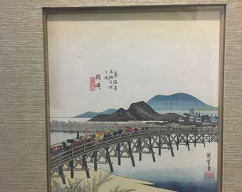 Oriental art, original signed calligraphy, Japanese art