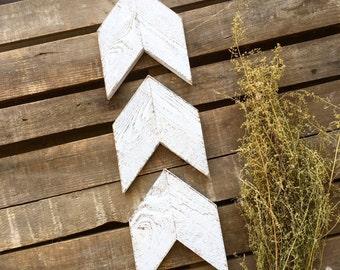 Chevron Arrow Set of 3 - Chevron Wall Art - Wooden Chevron Arrows - Arrow - Wooden Arrow - Nursery Decor - Kitchen Decor - Rustic Home Decor