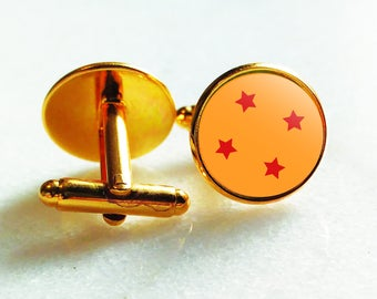 4 Star Cufflinks - Perfect for Birthday Gift, Weddings, Office Wear, Banquets, Night Out, Comic Con