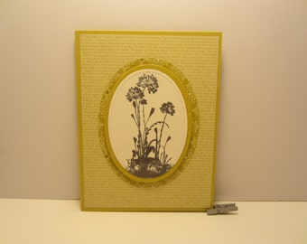 Layered Ovals Flower Blank Card