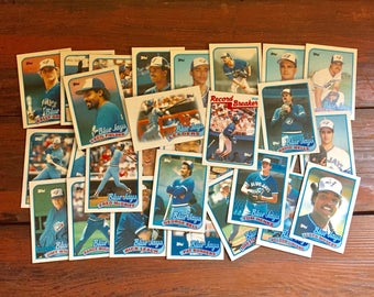 Complete Toronto Blue Jays 1989 Topps Team Set/ 29 Total MLB Baseball Cards/ Near Mint Condition!!!