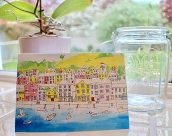 Seafront Cityscape A6 Notecard with Envelope