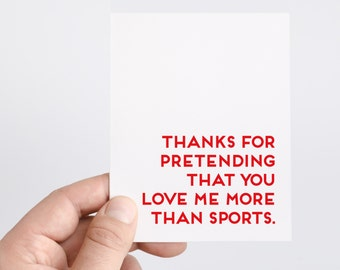Sports Card | Football | Cards For Men | Anniversary Card | Funny Dating Card | Love Card | Sports Birthday | Love Sports | Honest Cards