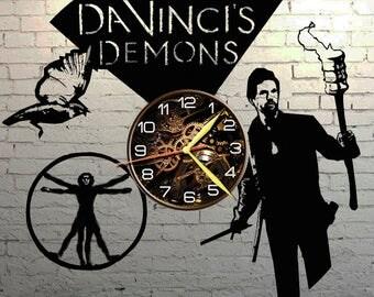 VINYL WALL CLOCK Davincis Demons, best gift, original gift