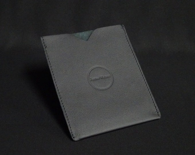 Passport Sleeve - Black - Kangaroo leather with optional RFID chip blocking - Handmade - James Watson
